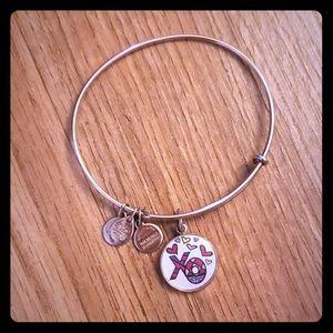 "Alex and Ani Jewelry - Alex and Ani ""Xo"" Rose gold tone Bracelet"
